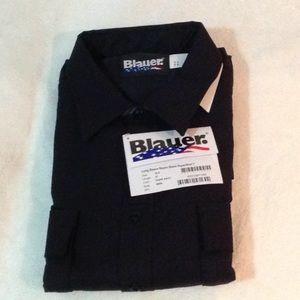 NWT, Blauer long sleeve  navy supershirt 18.5/37